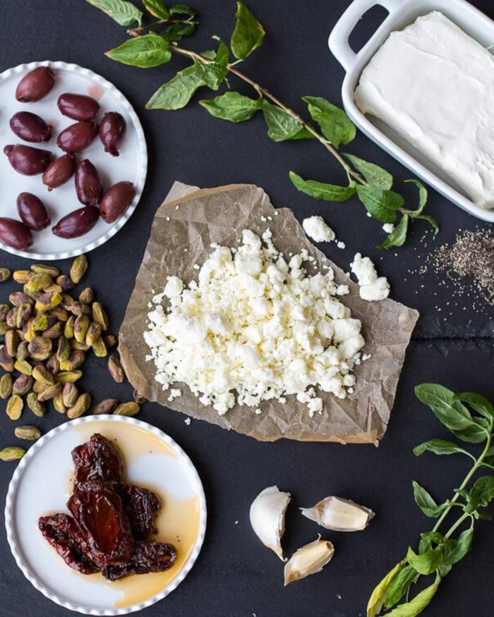 como hacer aperitivos vegetarianos, recetas ricas de entrantes para vegetarianos, fotos con los ingredientes