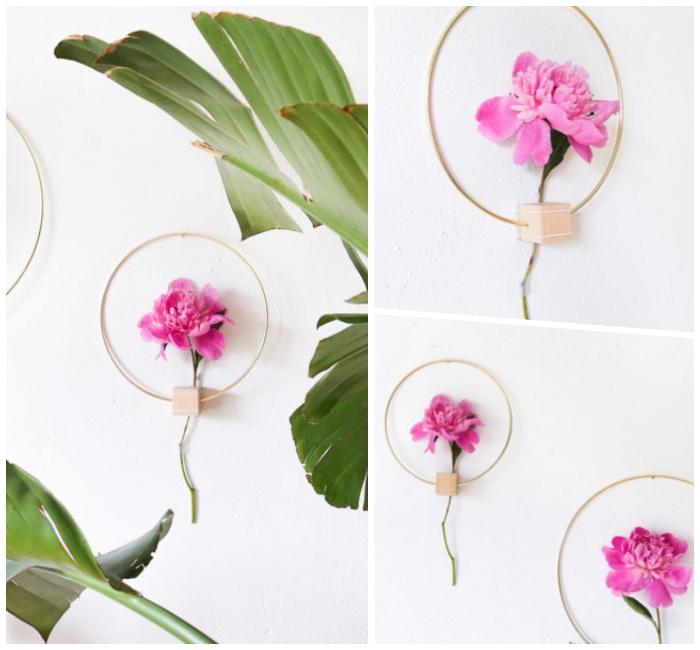 decoracion de pared con flores, propuestas únicas de decoración para la primavera paso a paso