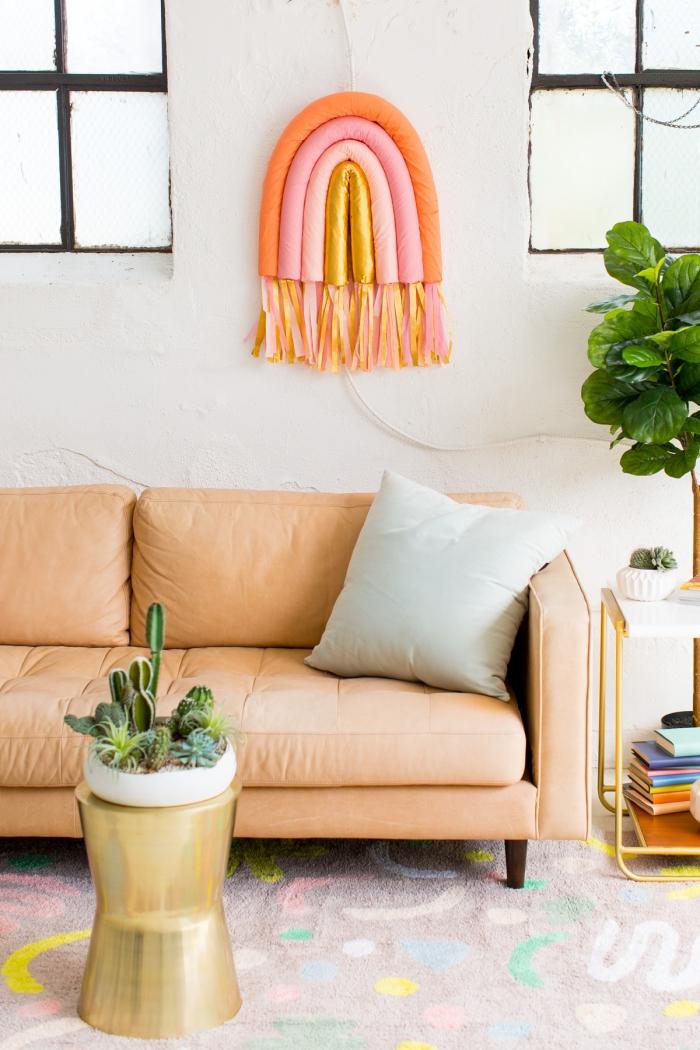 detalles coloridos para decorar el salón, paredes decoradas con mucho encanto, elementos coloridos en la pared
