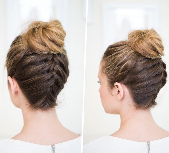 peinados de fiestas para niñas y mujeres, cómo hacer una trenza francesa paso a paso en fotos