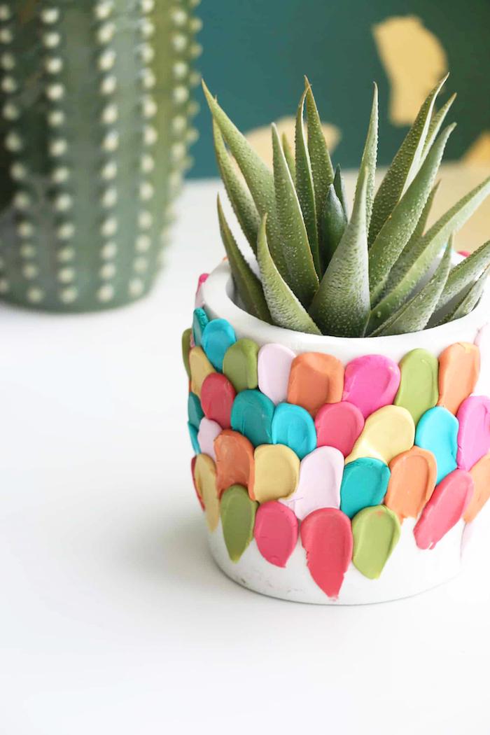preciosa maceta pequeña para regalar, ideas de regalos caseros temáticos y bontios, regalar plantas suculentas, ideas para regalar