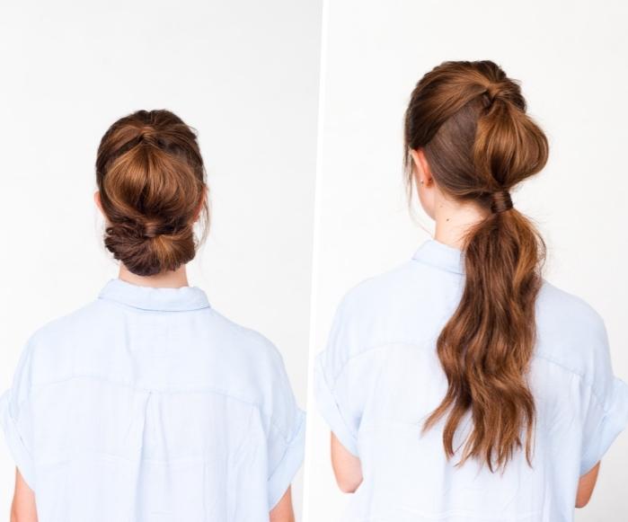 cómo hacer un recogido burbuja paso a paso, peinados bonitos para cabello largo paso a paso