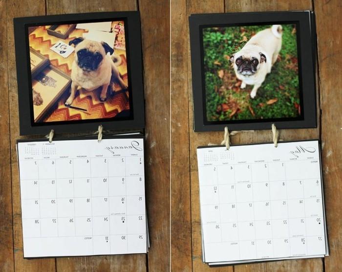 ideas para regalar unicas, calendario personalizado con fotos, regalos hechos a mano originales
