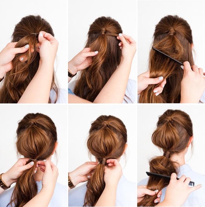 cómo hacer un peinado burbuja paso a paso, peinados bonitos y elegantes en tutoriales