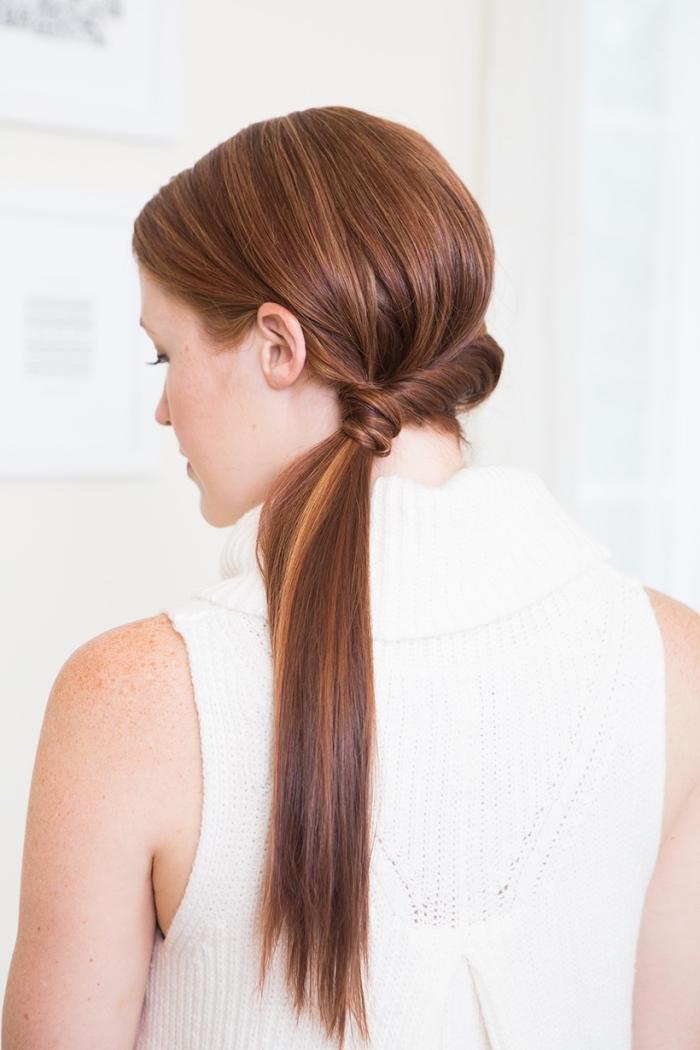 preciosa coleta lateral pelo largo, ideas de peinados pelo largo paso a paso, recogidos cabello largo