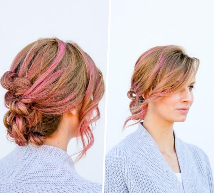 bonito moño con trenza francesa, peinados pelo largo en imagines, 124 propuestas de peinados