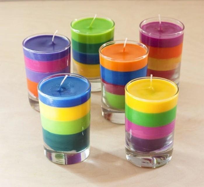 velas aromáticas hechas a mano, ejemplos originales de manualidades para regalar fáciles de hacer