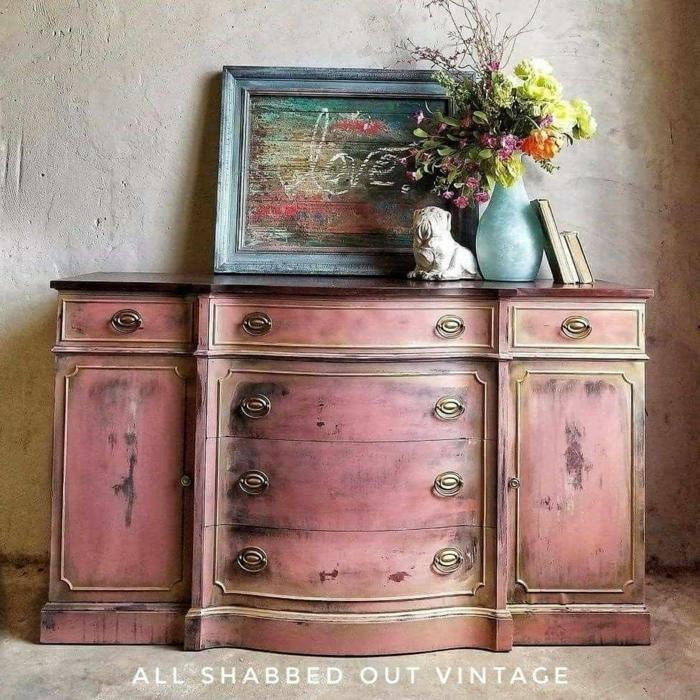 muebles pintados en casa efecto desgastado, pintar muebles antiguos paso a paso, bonitas imagines de muebles DIY