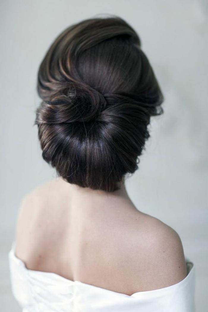 las mejores ideas de moños para novias, peinados faciles paso a paso en imagines, elegante recogido pelo largo