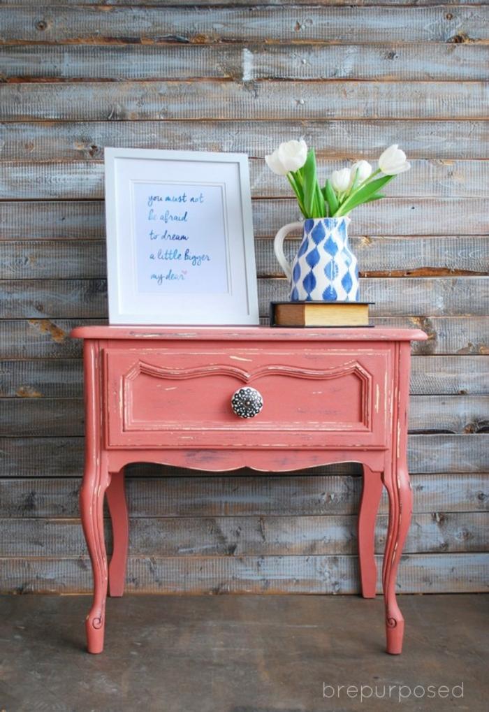 ejemplos de muebles pintados a la tiza, bonitas fotos de muebles vintage pintados en casa