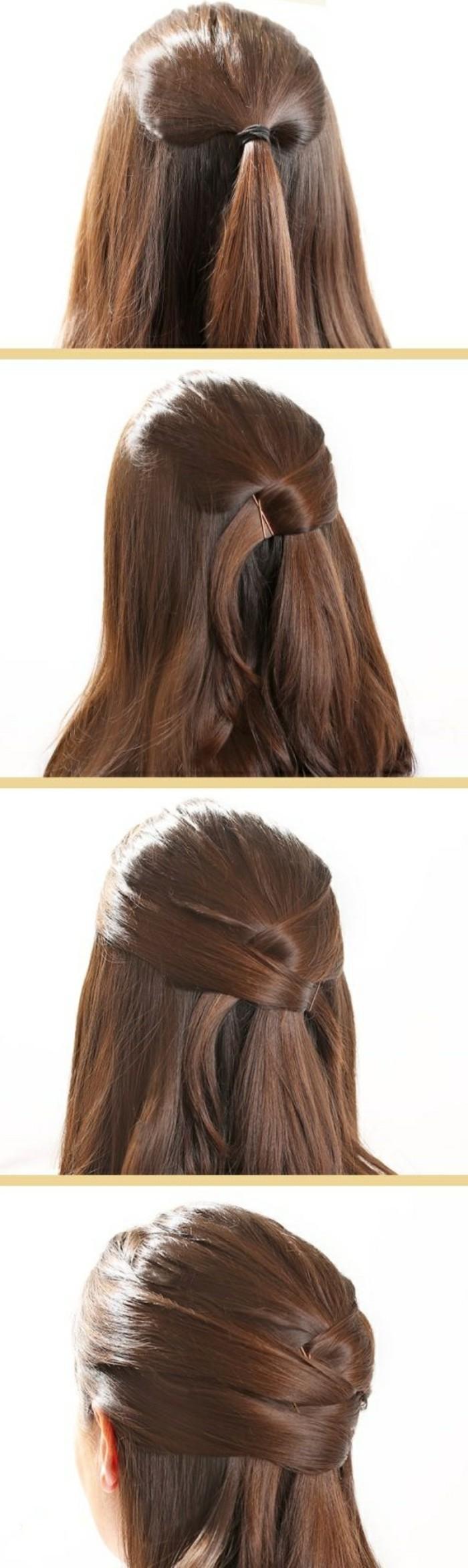 preciosas ideas de peinados faciles paso a paso, semirecogidos originales y bonitos con tutoriales