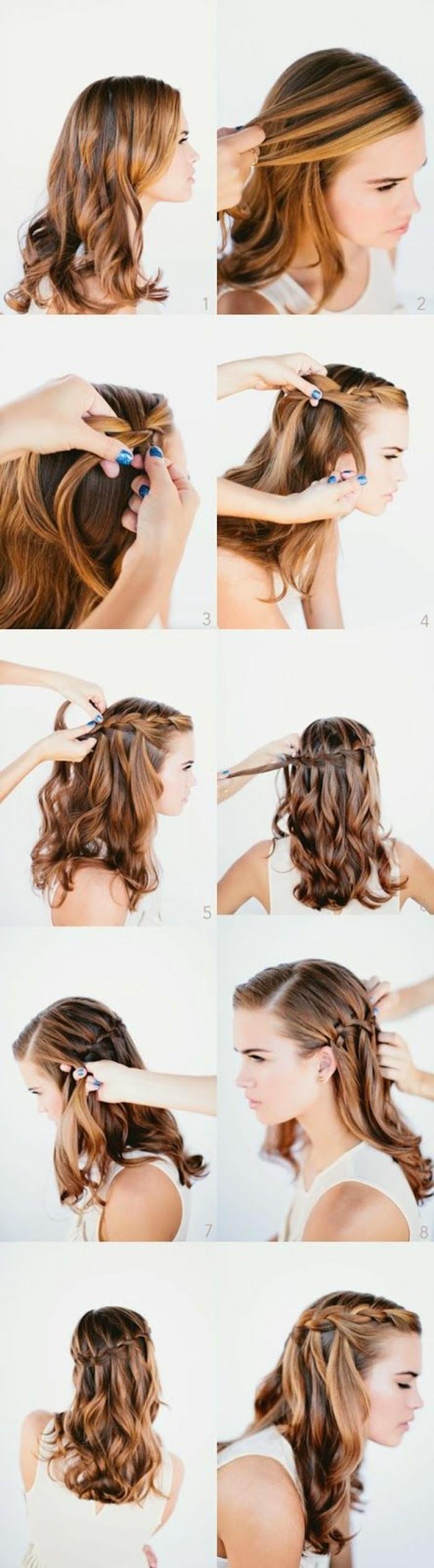 peinados faciles y rapidos para cada ocasion, semirecogido trenzado para media melena