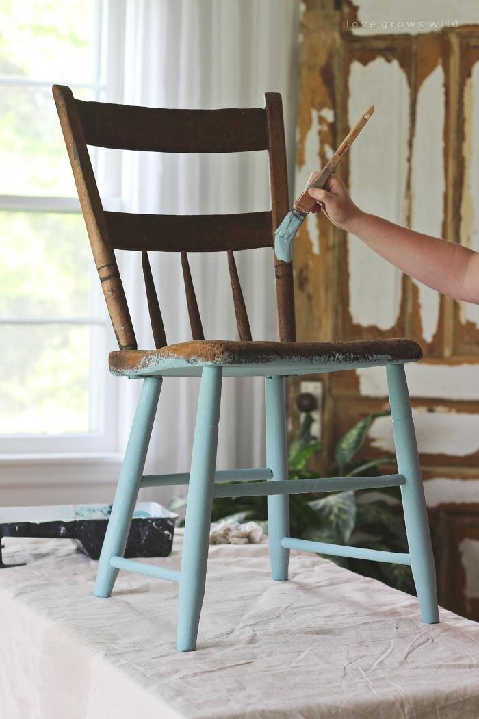 como pintar una vieja paso a paso, ideas de muebles pintados a la tiza super bonitos en imagines