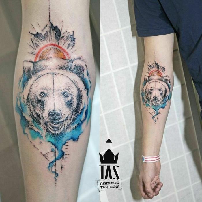preciosos diseños de tatuajes en el antebrazo, tatuaje antebrazo hombre, diseños de tattoos en colores