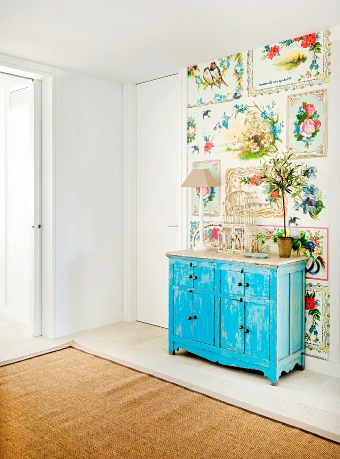 preciosos ejemplos de muebles pintados a la tiza para un ambiente decorado en estilo vintage