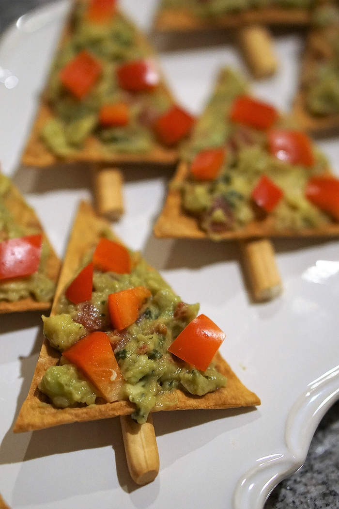 bocados ricos y originales para navidad, recetas vegetarianas navidad, guacamole casero