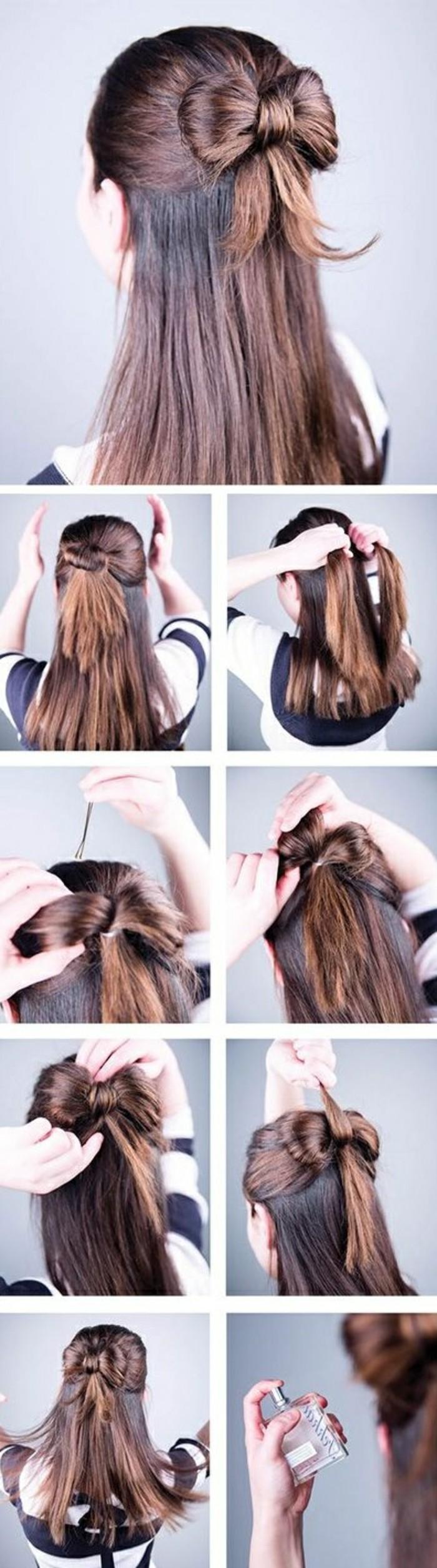 peinados para ir de fiesta, recogidos y semirecogidos pelo largo, recogidos sencillos paso a paso