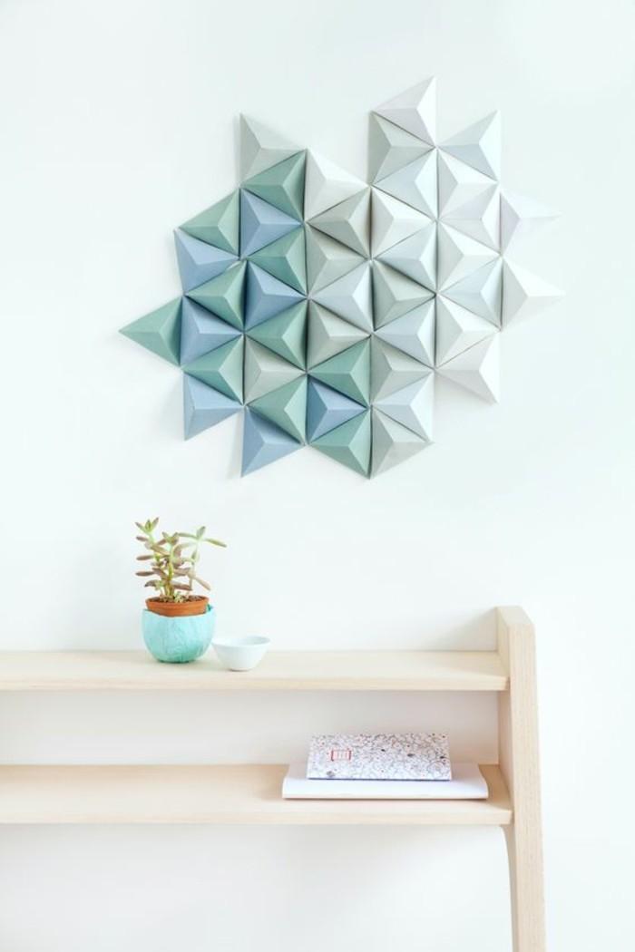 decoracion pared salon en estilo minimalista, piezas en los tonos del color azul, salón moderno