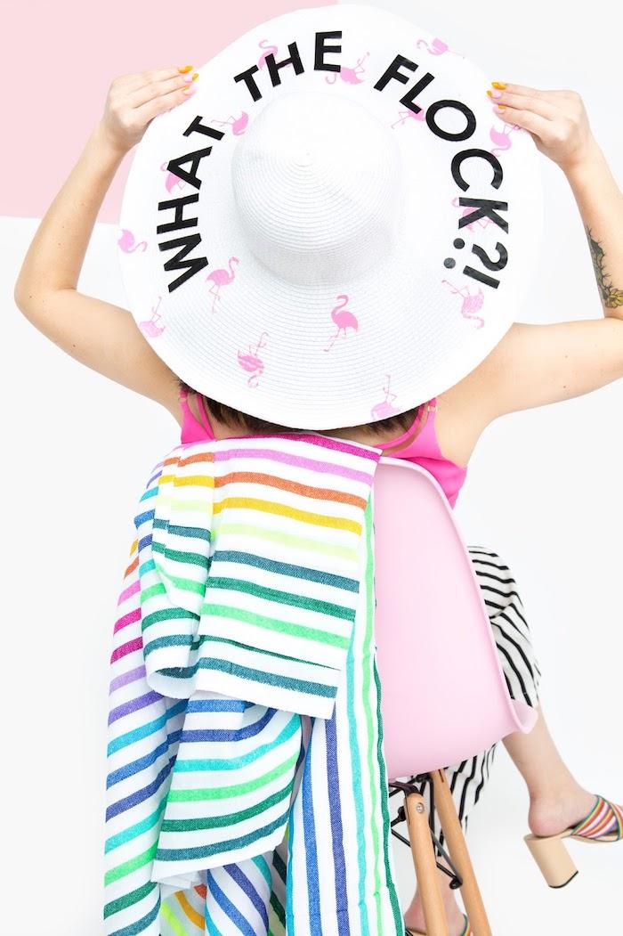 sombrero de paja con estampados, regalos para mujeres originales hechos a mano, sobrero DIY paso a paso