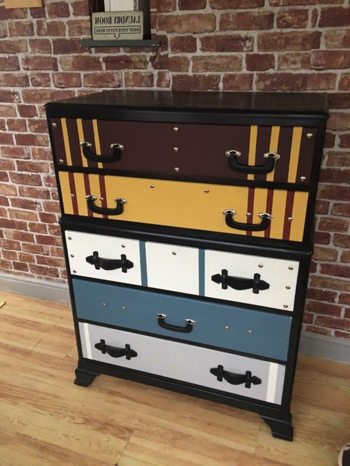 alucinantes ideas sobre como pintar armario viejo, bonito armario estilo vintage en colores oscuros