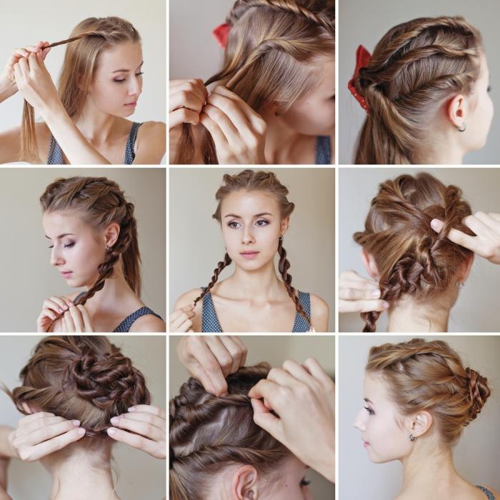 peinados originales y fáciles de hacer con trenzas, como hacer peinados pelo largo paso a paso