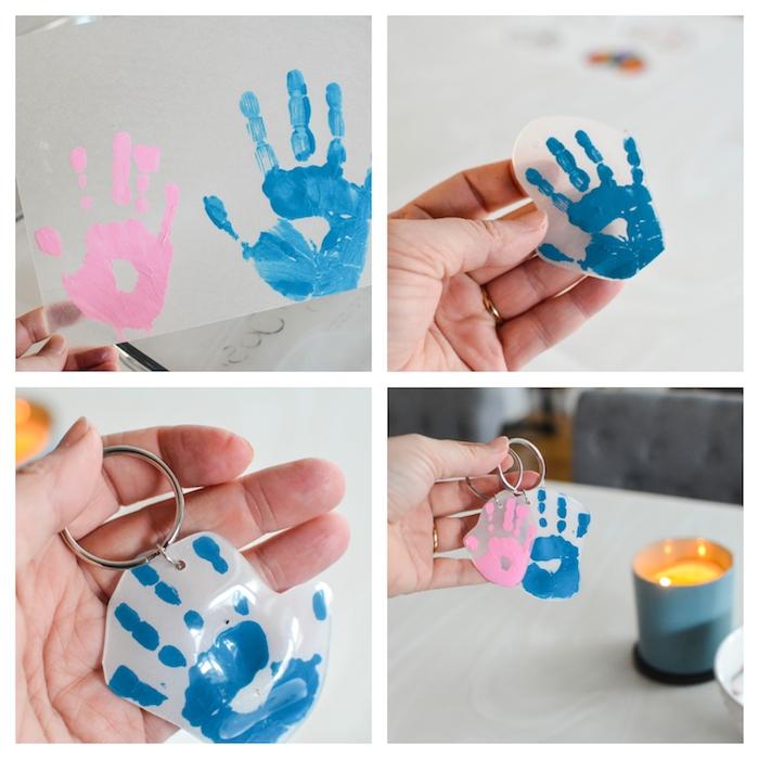 pequeños llaveros con huellas de manos, regalos personalizados, más de 120 fotos con ideas de regalos DIY originales