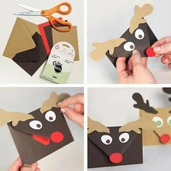 tarjetas navideñas DIY personalizadas, sobre decorados como renos, ideas de regalos para navidad