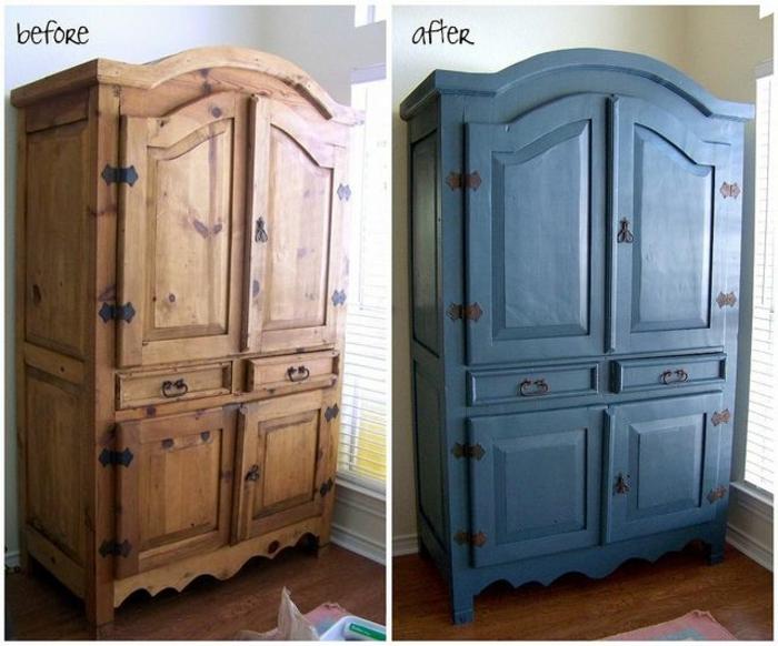 fotos antes y después de armarios pintados, pintar armario paso a paso, bonitas ideas de bricolaje