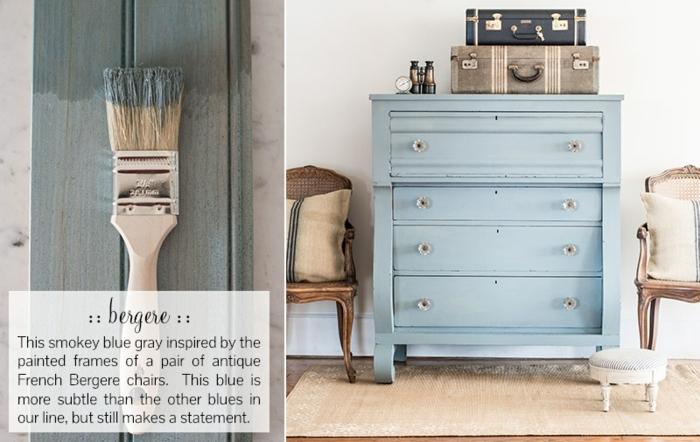 ideas bonitas sobre como pintar muebles de madera sin lijar, armario bonito pintado en color azul