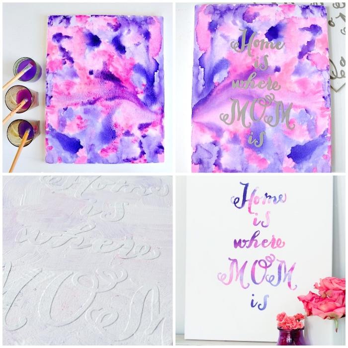 cuadros decorativos únicos para regalar para el día de la madre, detalles hechos a mano paso a paso