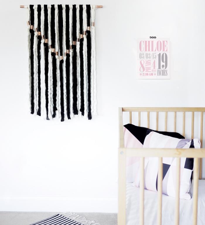 deocración pared casera original, manualidades decoracion fáciles y rápidos, decoracion con hilo