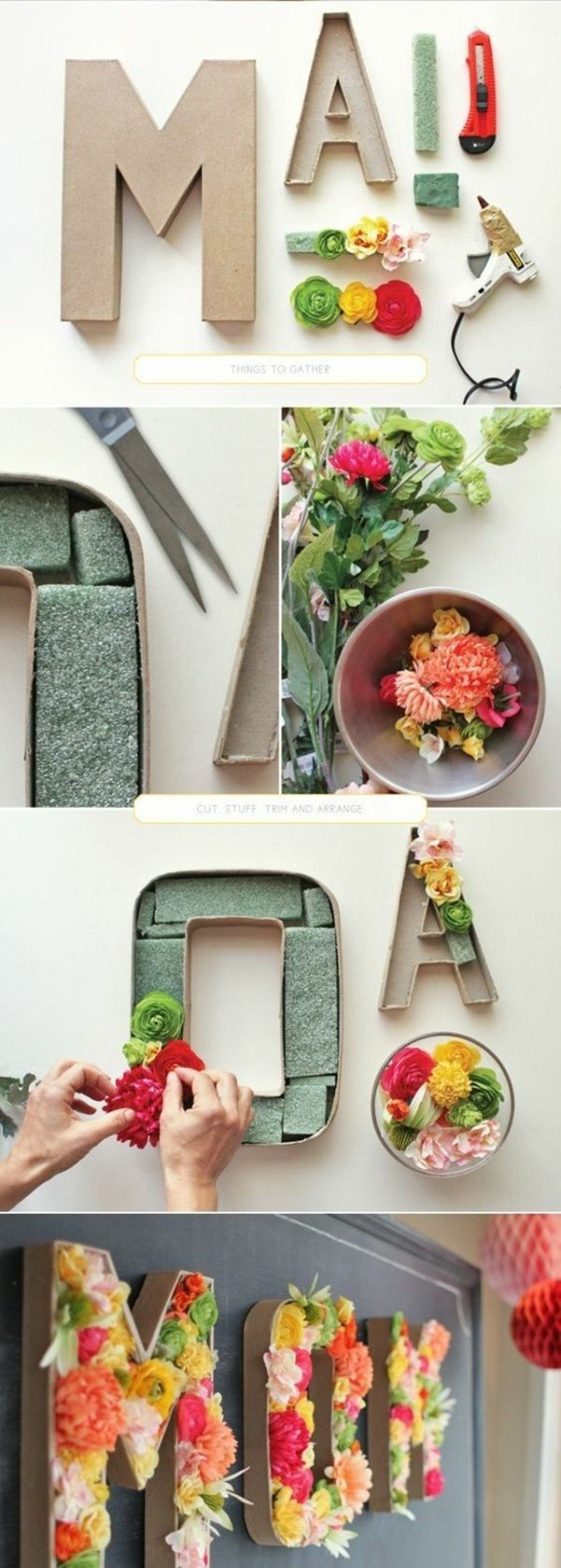 ideas de manualidades decoracion con tutoriales paso a paso, mini macetas con flores