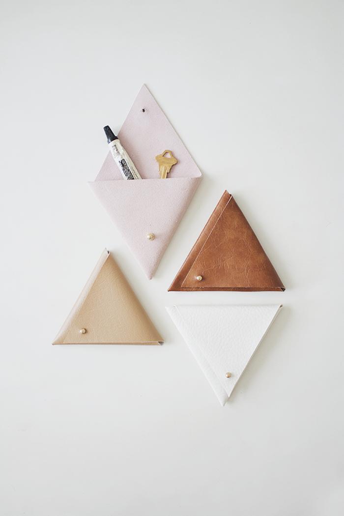 organizador DIY de cuero, regalos utiles y bonitos para hacer en casa, más de 120 ideas de regalos amigo invisible