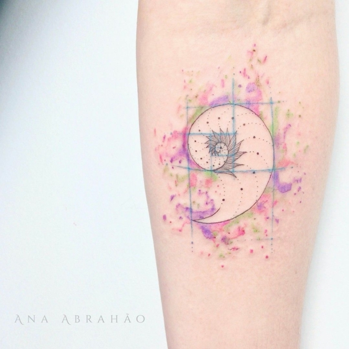 tatuajes tumblr en colores pastel, diseños de tatuajes minimalistas en colores, tattoos antebrazo bonitos