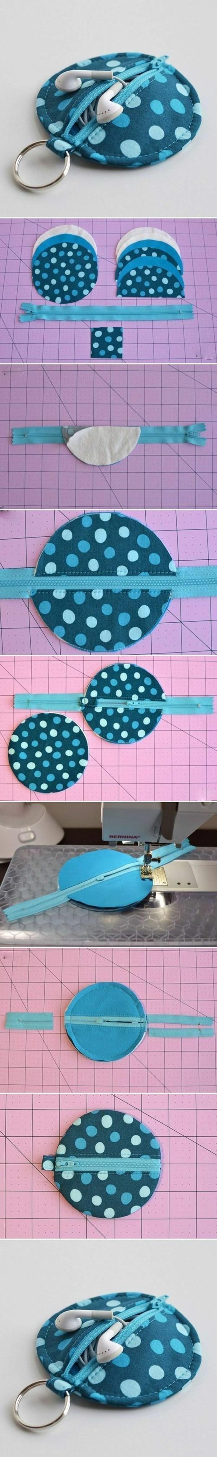 regalos de cumpleaños hechos a mano con tutoriales paso a paso, pequeño monedero de fieltro DIY