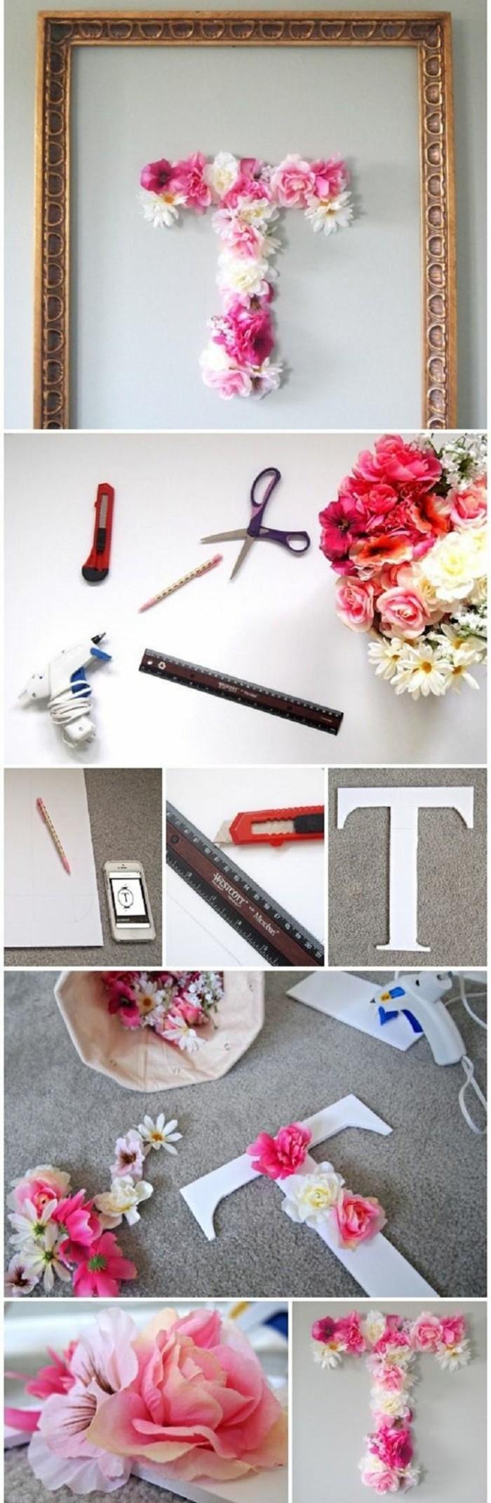 preciosa decoración de pared con flores, tutoriales de manualidades fáciles y originales
