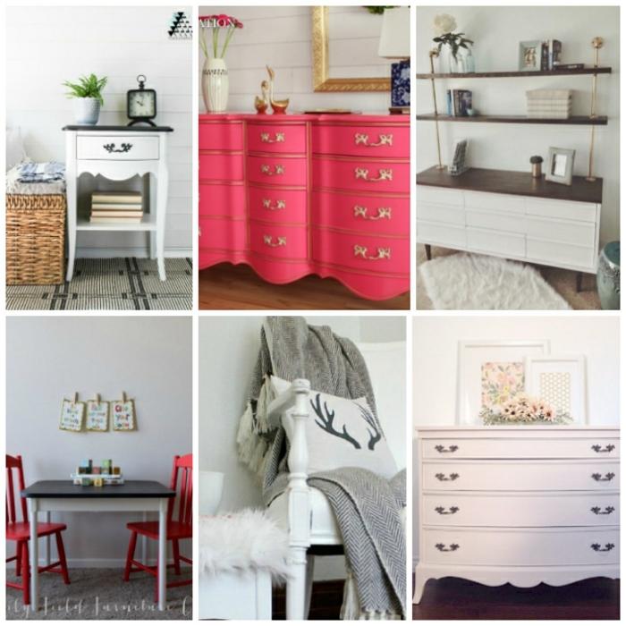 seis propuestas sobre como pintar muebles de madera sin lijar, muebles pintados en bonitos colores