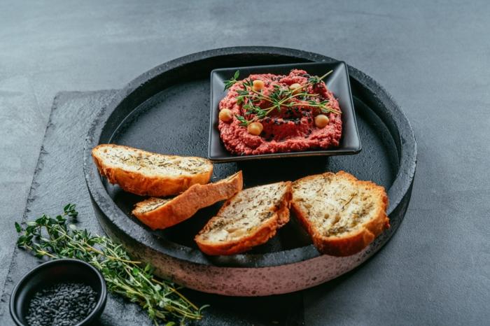 como preparar humus casero paso a paso, ideas de recetas veganas saludables y faciles de hacer, entrantes para picoteo