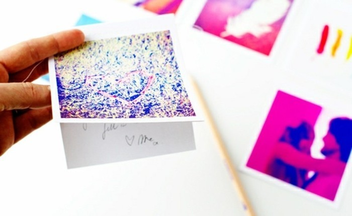 decoración con fotos tipo Instagram, ideas de regalos originales para decorar la casa, regalos personalizados con fotos