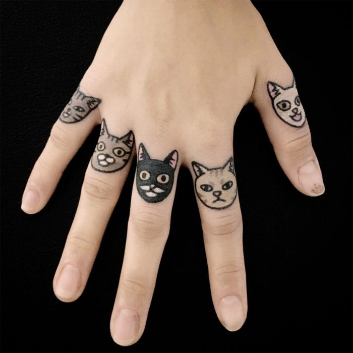 bonitos diseños de tatuajes en los dedos, más de 100 originales diseños, tatuajes pequeños mujer