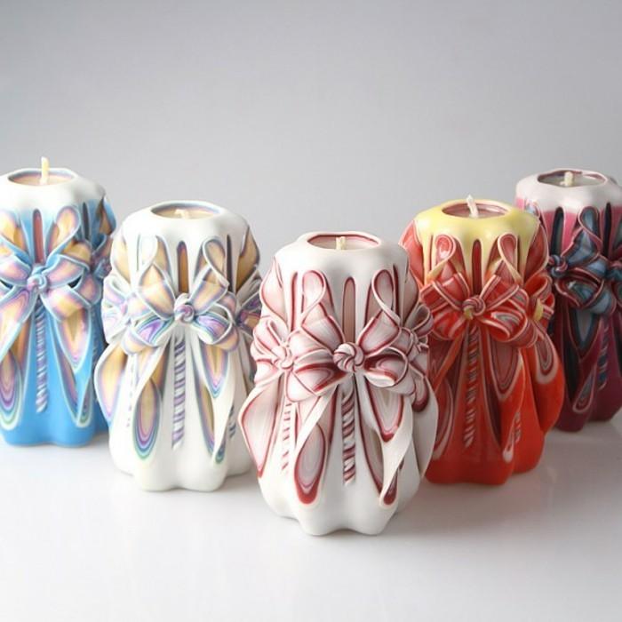 impresionantes ejemplos de regalos amigo invisible manual, velas decorativas en colores