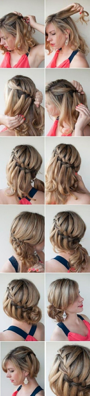 peinados de moda con instrucciones paso a paso, fotos de recogidos originales con trenzas