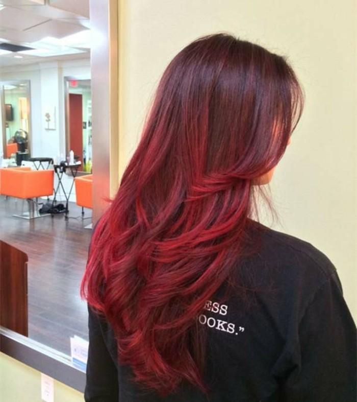 color de pelo para morenas, las mejores propuestas de colores para pelo castaño, mechas balayage color cereza