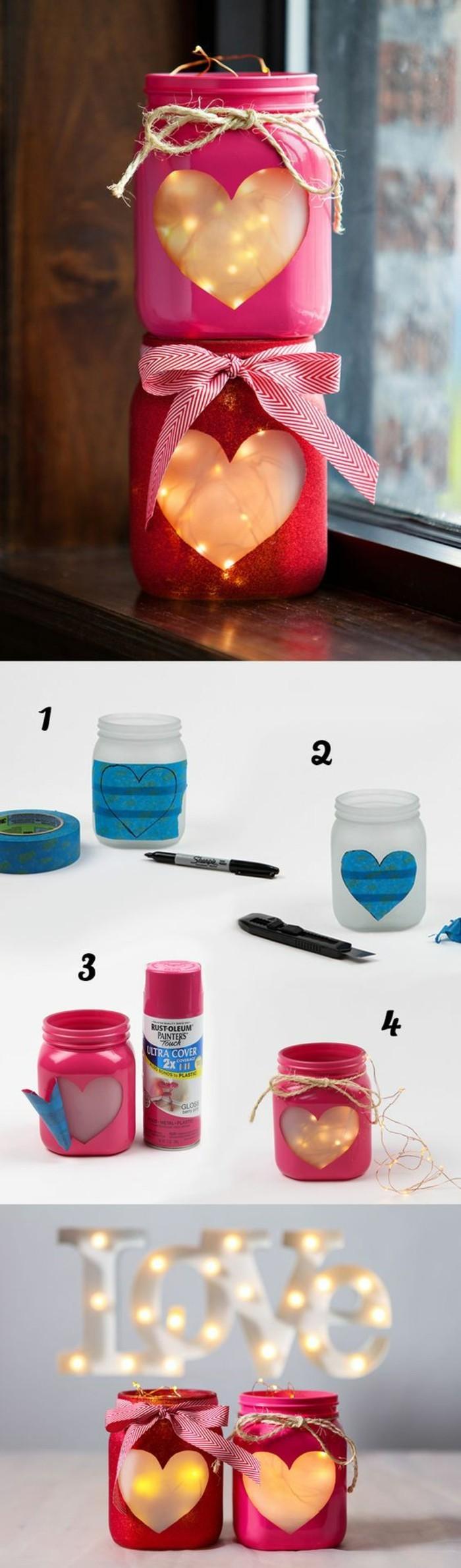 magníficas ideas para regalar en navidad, frascos decorados para regalar en el día de los enamorados