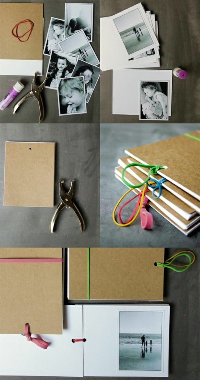 ideas originales de regaloso con fotos, cuaderno DIY, album con fotos super original paso a paso