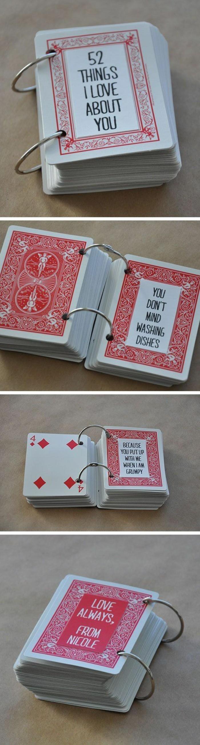 52 cosas que amo en ti, ideas de regalos caseros super románticos, manualidades san valentin