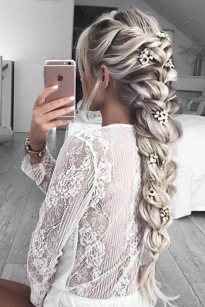 peinados con trenzas faciles y super atractivos, preciosas ideas de peinados de novia bonitos