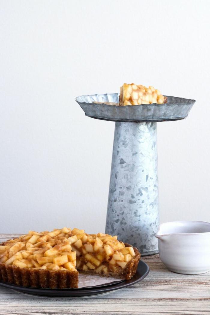 recetas de postres caseros para el verano, tarta de manzanas sin horno, postres faciles y rapidos de hacer en casa