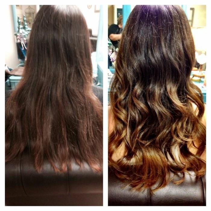 ideas sobre cómo refrescar el color del cabello, que colores combinan con el color de pelo castaño