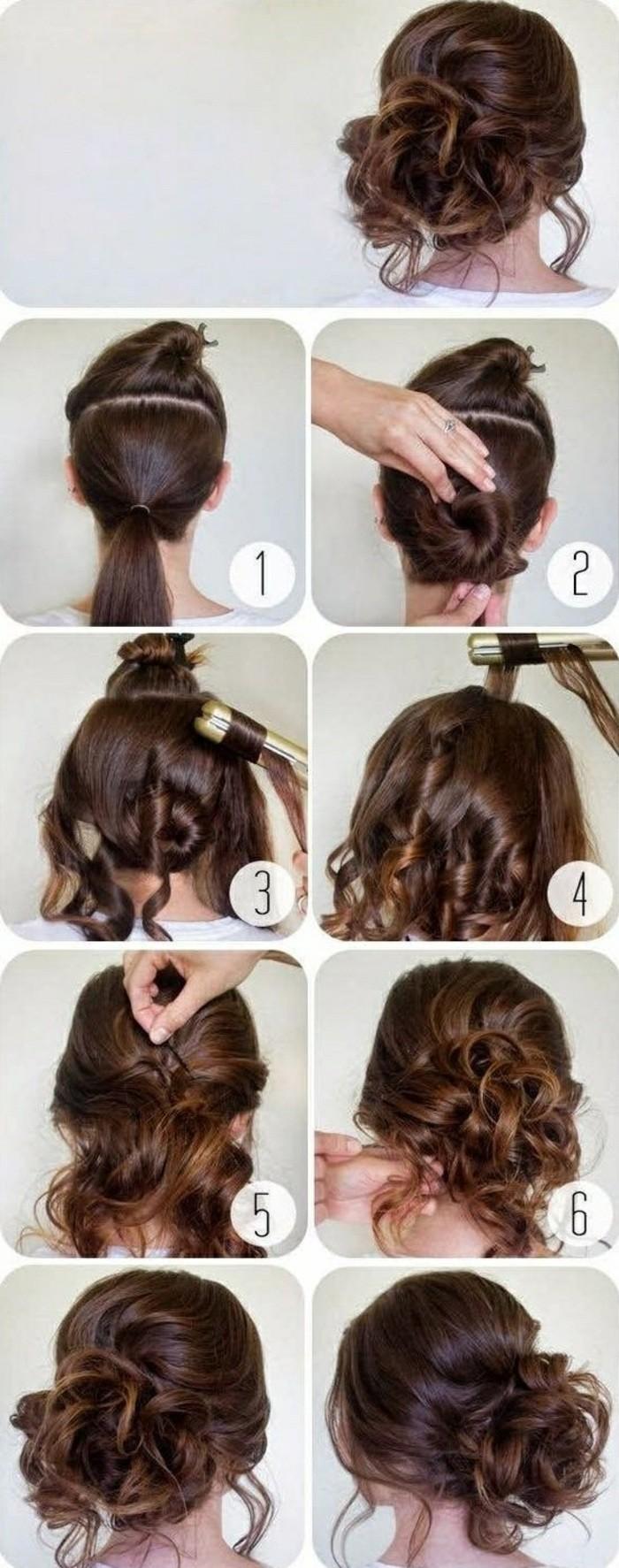 peinados faciles media melena, peinados pelo rizado, ideas de peinados de novia bonitos paso a paso